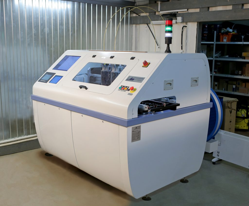 Pin Insertion Equipment Sm Contact Printed Circuit Board Printer With Smema Compatible Belt Conveyor System To Enable Integration Of Into The Production Line Surface Mounted Boards