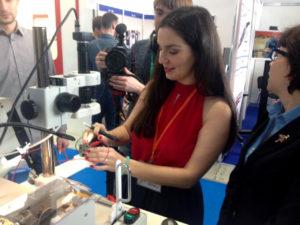 Mobile micrograph laboratory demo on Cabex 2017