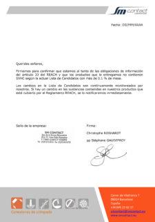 REACH_general confirmation_ES